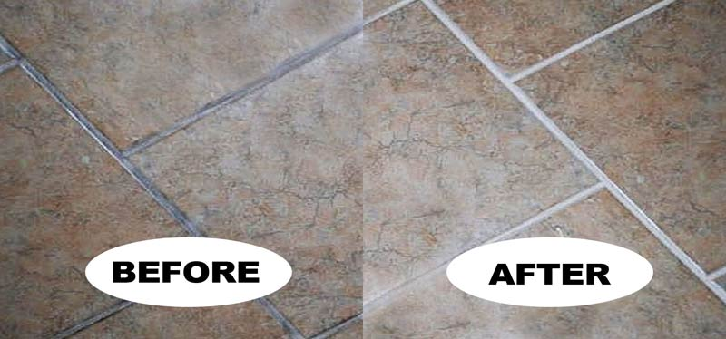 how to clean tiles and grout